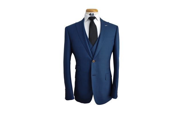 Ocean Blue Wool Suit