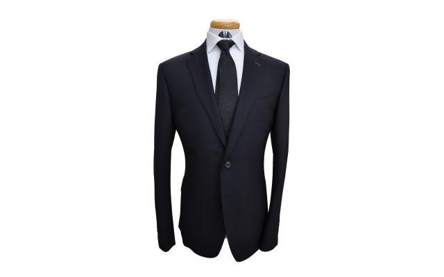 Midnight Blue Birdeye Wool Suit
