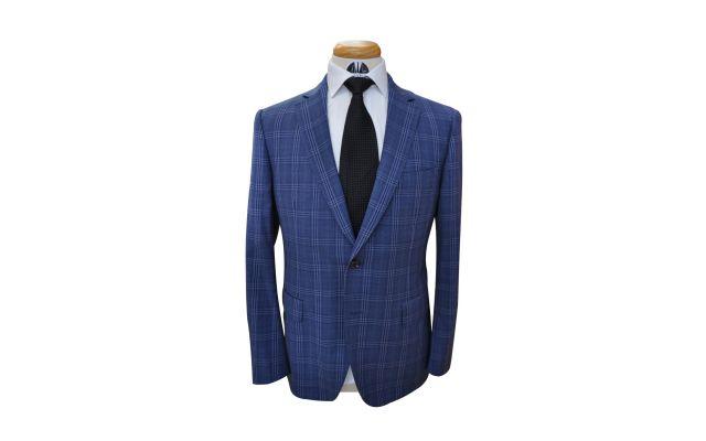 Yale Blue Plaid Wool Suit