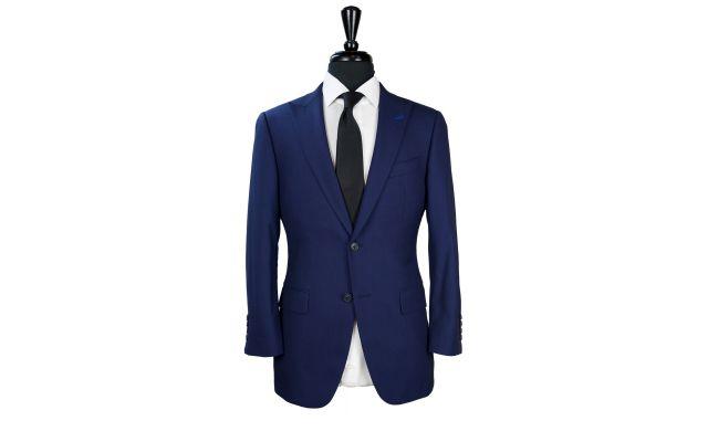 Navy Blue Birdseye Wool Suit