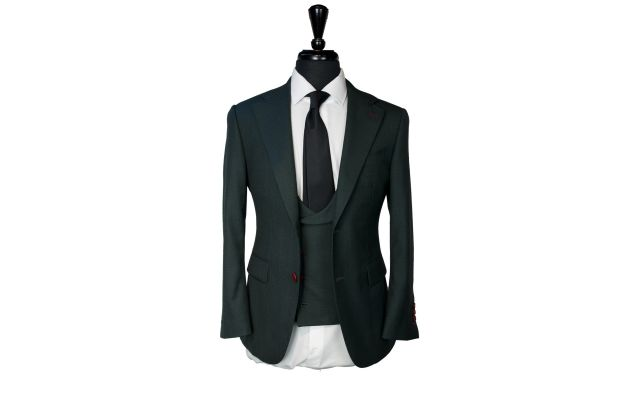 Dark Green Wool Suit