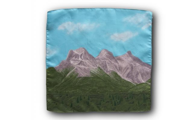 Three Sisters Mountains Pocket Square