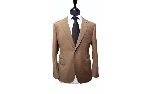 Earth Tone Twill Wool Suit