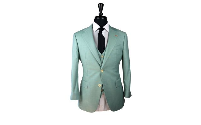 Teal Wool Suit