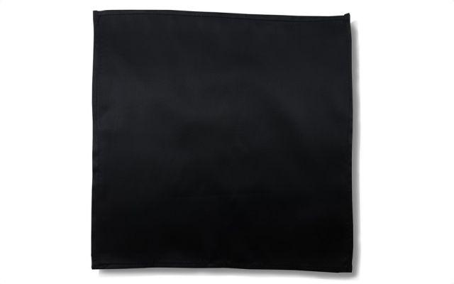 Silky Black Handkerchief