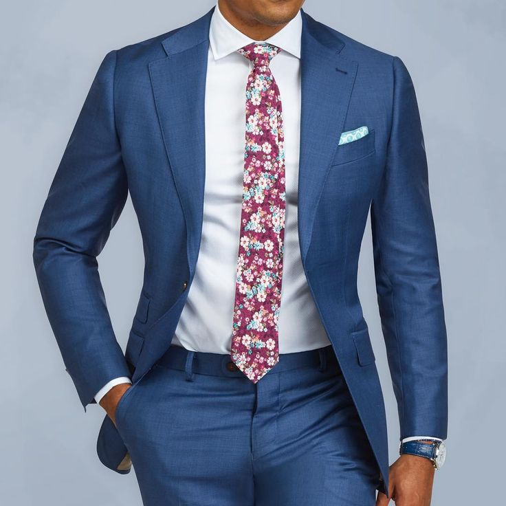 Polyester blue suit