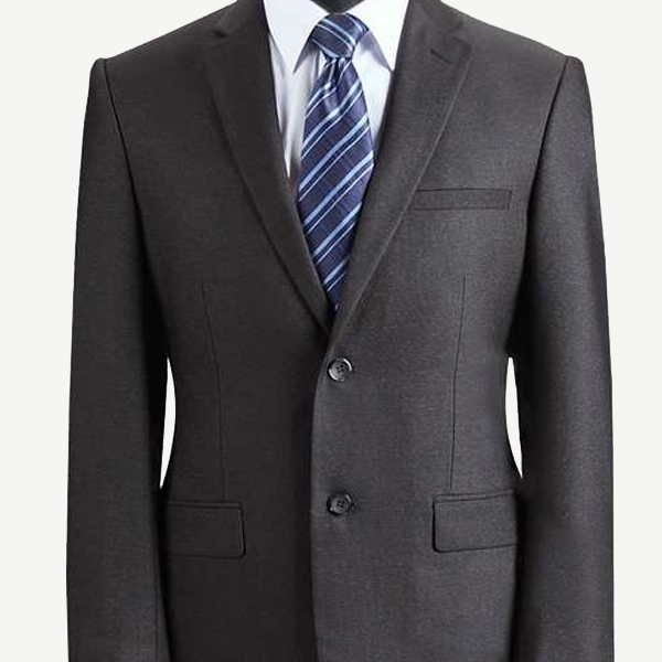 Notch Lapel Charcoal Suit