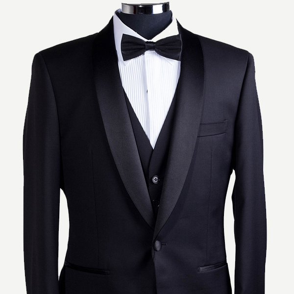 Classic three-piece shawl tux