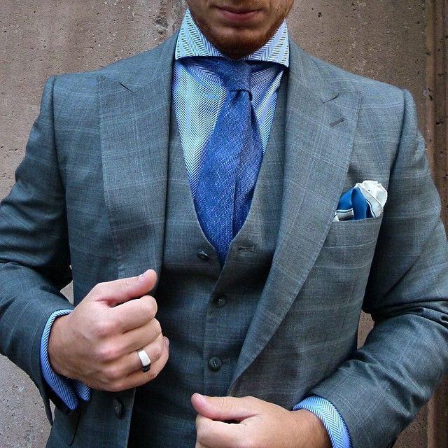 Windowpane suit